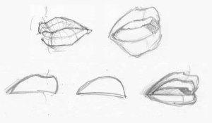 15 imágenes de dibujos a lápiz de boca de mujer (1)