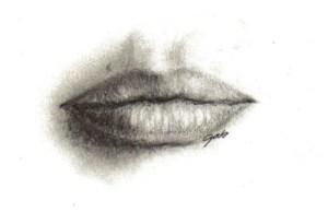 15 imágenes de dibujos a lápiz de boca de mujer (13)