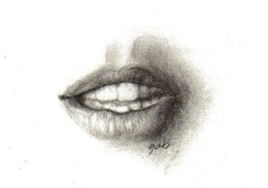 15 imágenes de dibujos a lápiz de boca de mujer (8)