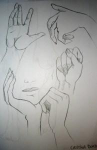 15 imágenes de dibujos a lápiz de manos y pies (2)