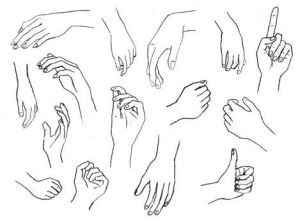 15 imágenes de dibujos a lápiz de manos y pies (4)