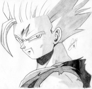 Dibujos a lápiz de dragon ball z (4)