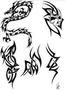 Dibujos de tribales (6)