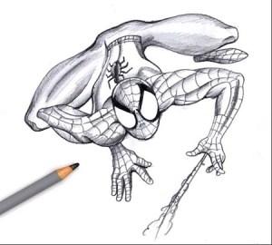 10 Dibujos a lapiz de Spiderman (10)