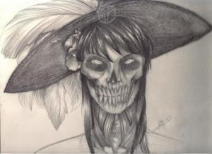 11 dibujos a lápiz de la santa muerte (10)