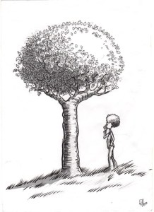 11 dibujos a lapiz de árboles (6)