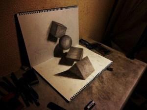 10 interesantes dibujos a lápiz en tercera dimensión (5)