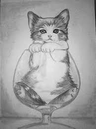10 dibujos a lápiz de gatos (10)