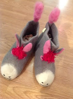 Childrens donkey slippers