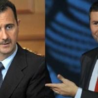 L'incredibile somiglianza tra Fabio Fazio e Assad: una proposta per la pace in Siria.