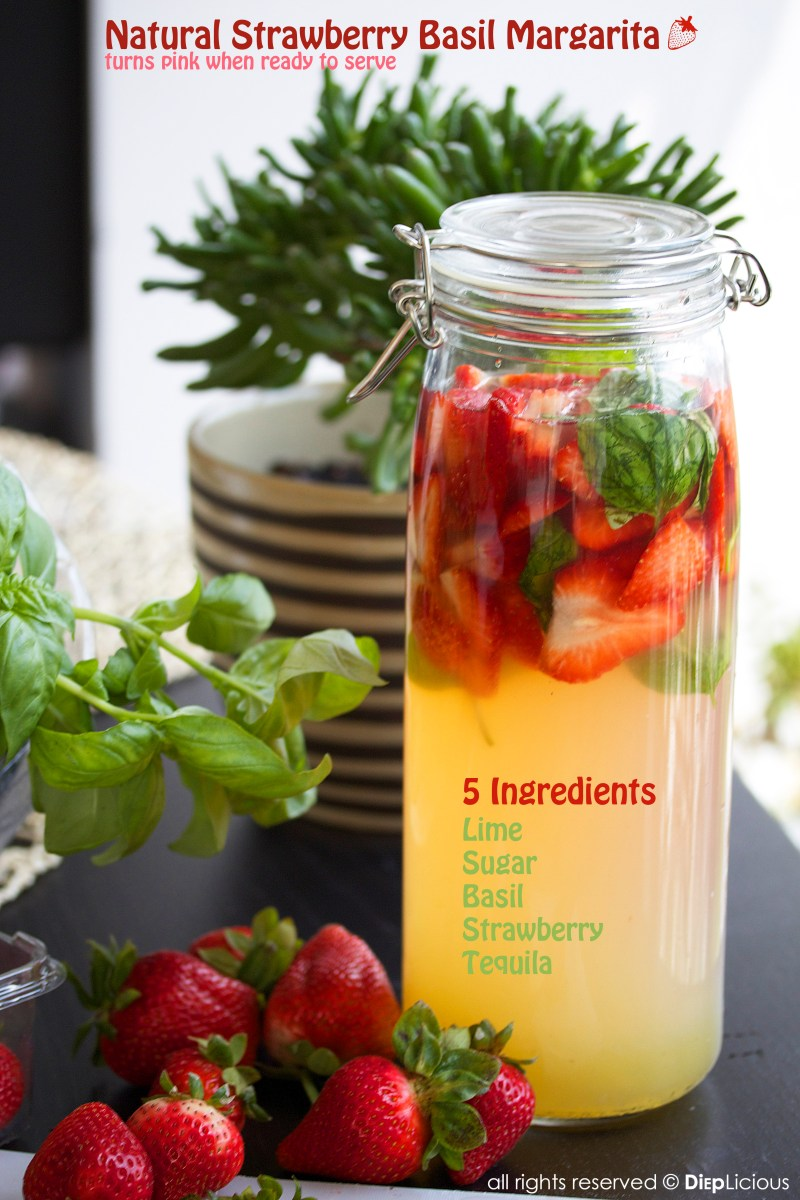 NATURAL STRAWBERRY BASIL MARGARITAS