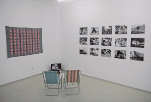 Persönliches in einem Raum des Politischen. Rauminstallation von Alenka Maly, 2017. Foto Die Referentin