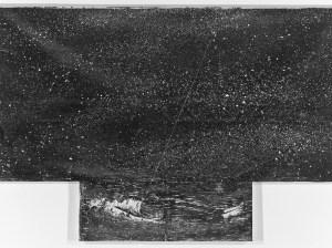 Die Erhabenheit und Anselm Kiefer. Im Bildtitel wird Kant zitiert: Der gestirnte Himmel über mir und das moralische Gesetz in mir, 1997. Foto Albertina, Wien