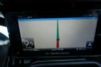 Man beachte den Hinweis unten links. Die nächste Richtungsänderung in 91km.