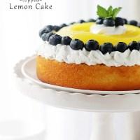Lemon Curd-Topped Lemon Cake + Blogiversary + Le Creuset Stoneware Bakeware Set Giveaway!