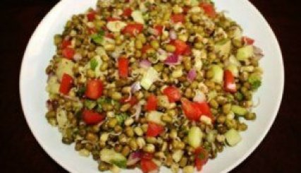 moong sprout chaat recipe