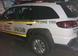POE prende homem suspeito de roubo em casa na Fenavinho em Bento