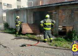 Bombeiros combatem princípio de incêndio em Bento