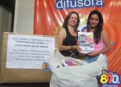 Difusora entrega novas doações na Campanha dos Lacres para Anjos Unidos em Bento