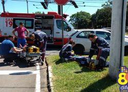 Acidente deixa duas pessoas feridas no bairro Fenavinho em Bento