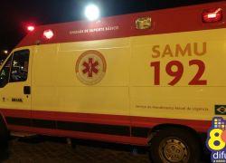 Acidente deixa homem ferido na BR 470 em Bento