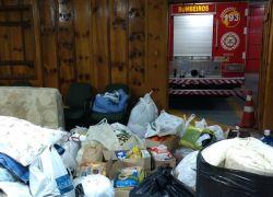 Bombeiros de Bento recebem donativos para São Francisco de Paula