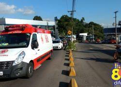 Motociclista ferido em acidente no São Roque em Bento