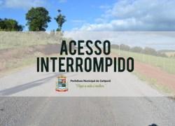 Acesso a Comunidade de Lajeado Bonito está bloqueado em Cotiporã