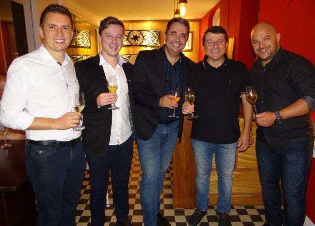 Leocir Glowacki, Gianfranco Bellé, Alexandro Barreto, Márcio Brandelli, Juliano Frizzo
