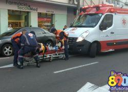 Acidente deixa mulheres feridas na área central de Bento
