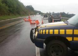 PRF informa restrição de rodovia pelas chuvas na divisa RS x SC