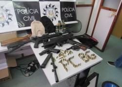 Polícia Civil apreende armamento pesado em Bento