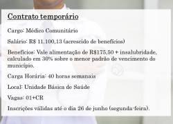Prefeitura de Monte Belo contrata médico temporário