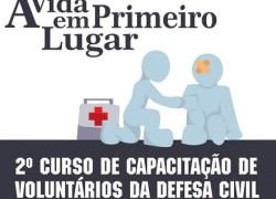 2º Curso de Capacitação de Voluntários da Defesa Civil ocorre em Bento