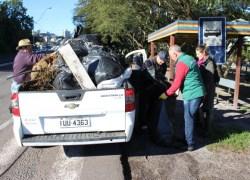 Mutirão do meio ambiente recolhe cerca de 10 toneladas de resíduos na BR-470