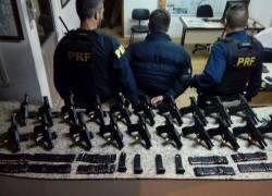 Arsenal com 20 pistolas é apreendido pela PRF em Lajeado