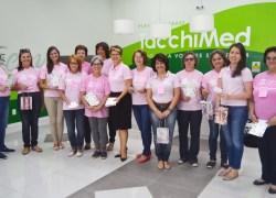 Voluntárias da Liga de Combate ao Câncer de Bento levam solidariedade para quem está em tratamento na Oncologia