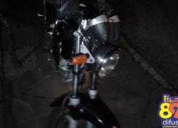 Motociclista fica ferido após sofrer queda na Linha Salgado em Bento
