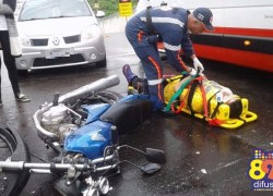 Acidente deixa dois feridos no Centro de Bento