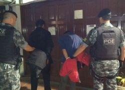 Bandidos são presos após assalto em casa no bairro Vila Nova em Bento