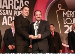 Vinícola Aurora recebe o Prêmio Mérito Lojista 2017 de fornecedora de excelência em suco de uva