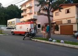 Motociclistas ficam feridos em acidente em Bento