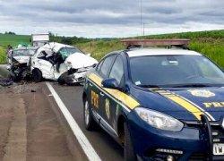 PRF atende acidente com duas mortes em Passo Fundo