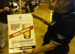 Operação coíbe consumo de bebidas alcoólicas a menores no Litoral Norte