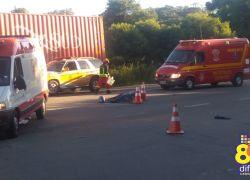 Acidente deixa um morto e outro gravemente ferido na RSC-453 em Garibaldi