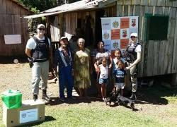 Brigada Militar de André da Rocha entrega cesta básica