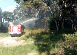 Bombeiros combatem princípio de incêndio no Ouro Verde em Bento