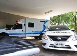 Estado entrega armas e viaturas para a Susepe