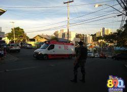 Ciclista fica ferido em acidente no bairro Progresso em Bento