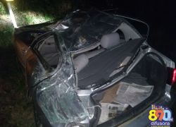 Acidente deixa duas pessoas feridas na BR-470 em Bento